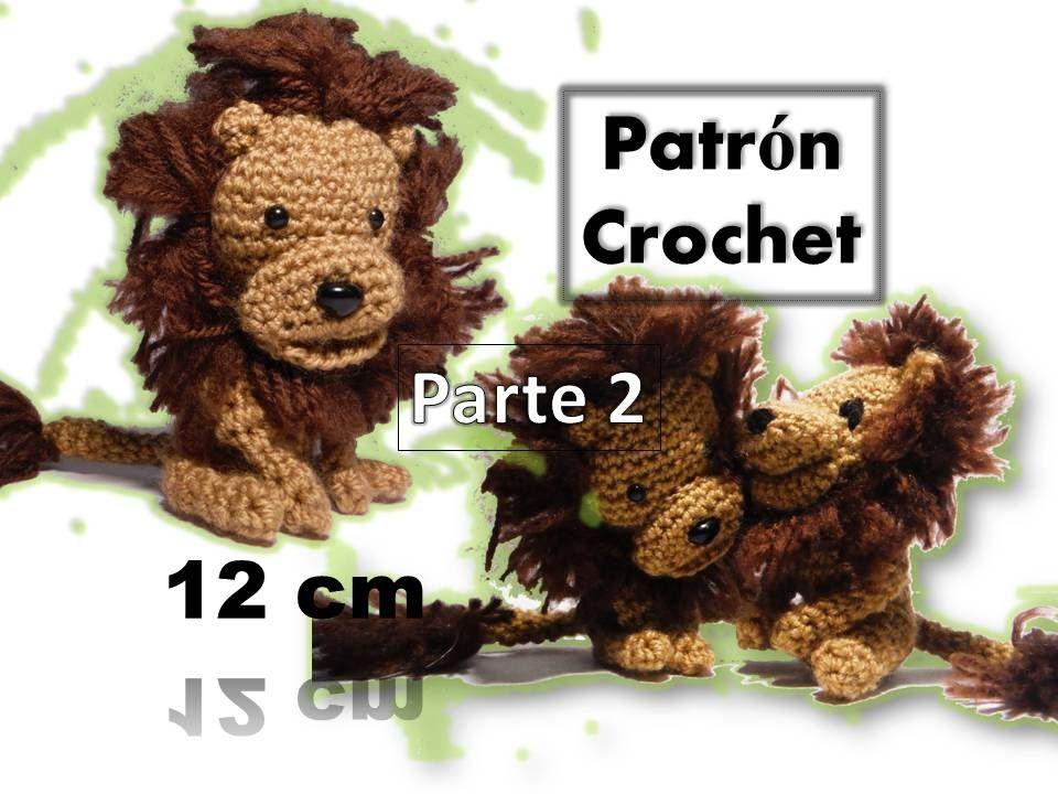 León Amigurumi Tutorial : León amigurumi llavero patrón crochet video tutorial parte 2
