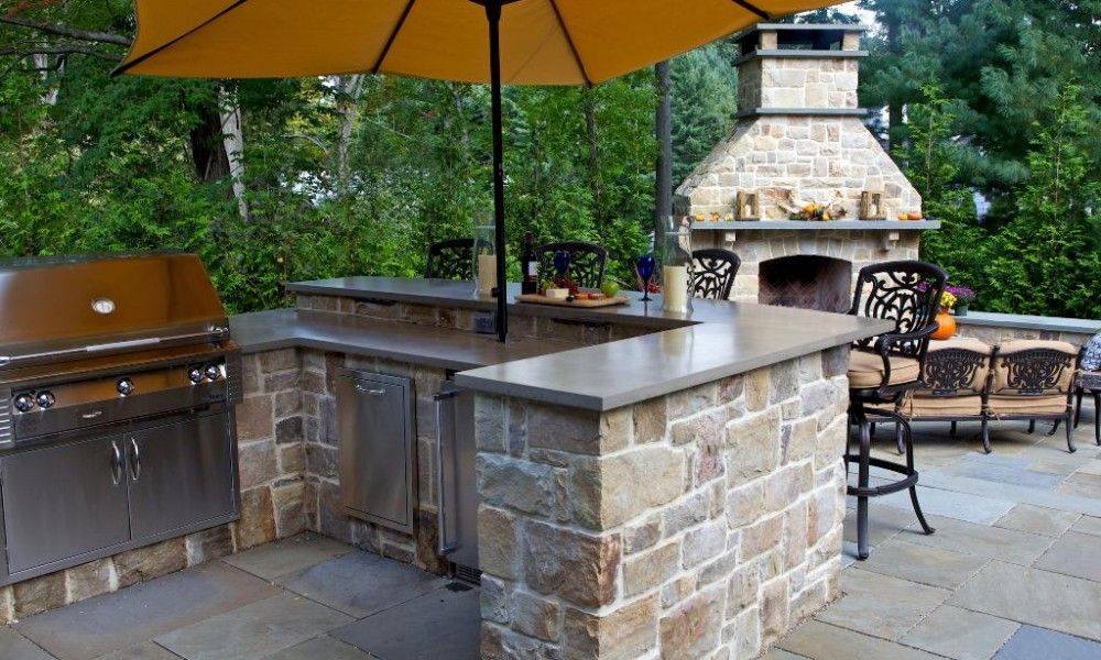 Delicieux Outdoor Stone Bars Designs