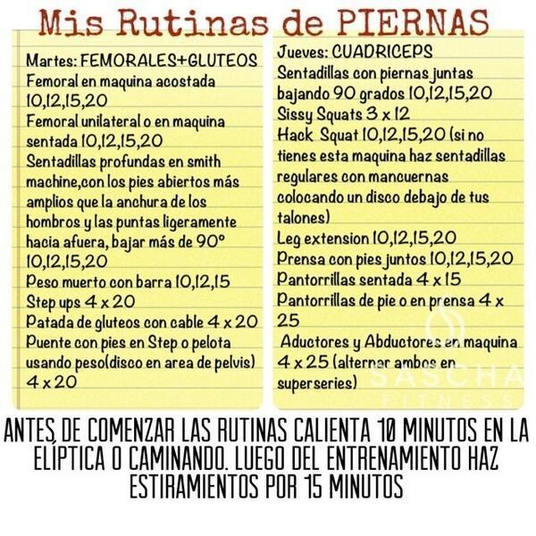 Rutina de tips fitness pinterest workout for Rutina fitness