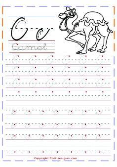 print out cursive tracing handwriting practice worksheets letter c for worksheets. Black Bedroom Furniture Sets. Home Design Ideas