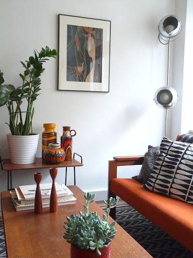 Fat Cat Blog - West German Ceramics in her living room