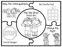 Primary Ctr 3 Lesson 26 The Holy Ghost Can Help Me Primary Holy Ghost Coloring Page