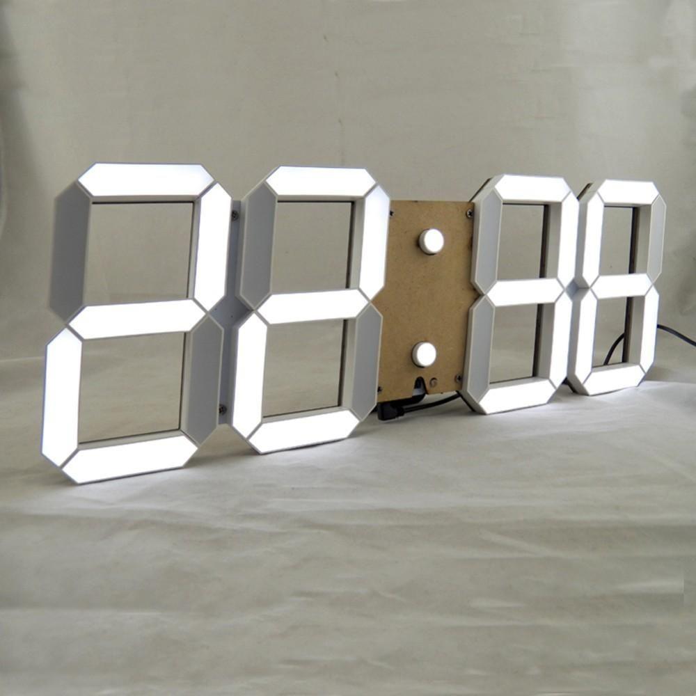large modern design digital led wall clock big creative