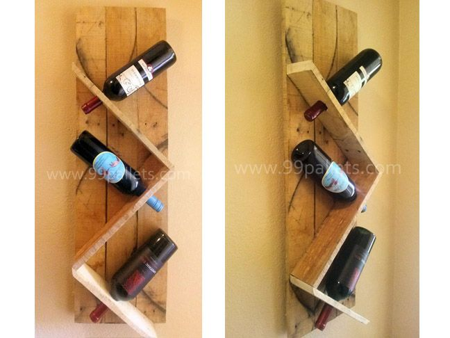 51 Awesome DIY Wine Racks You Can Make Right Now   Pallet wine racks ...