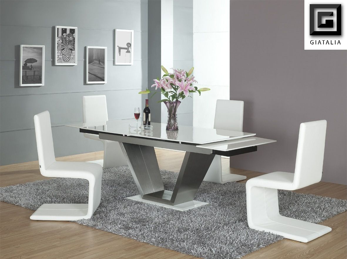 Modern dining table chair - Contemporary White Dining Room Furniture