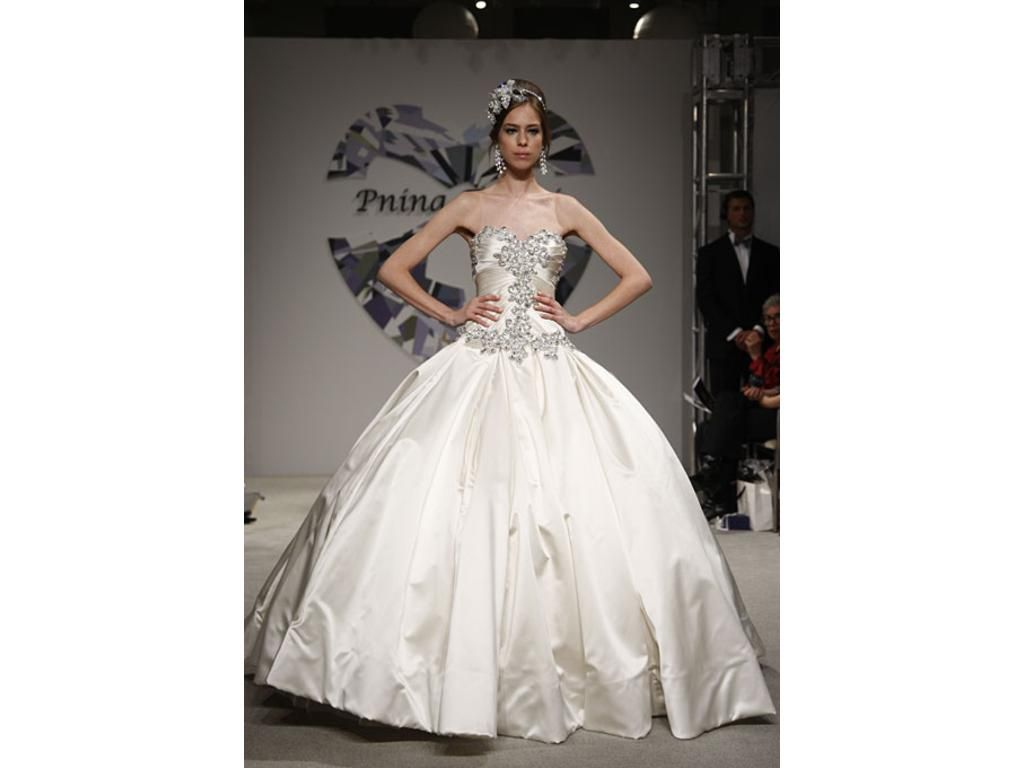 Ball gown wedding dress with bling  Pnina Tornai   Size   Used Wedding Dresses  Nice
