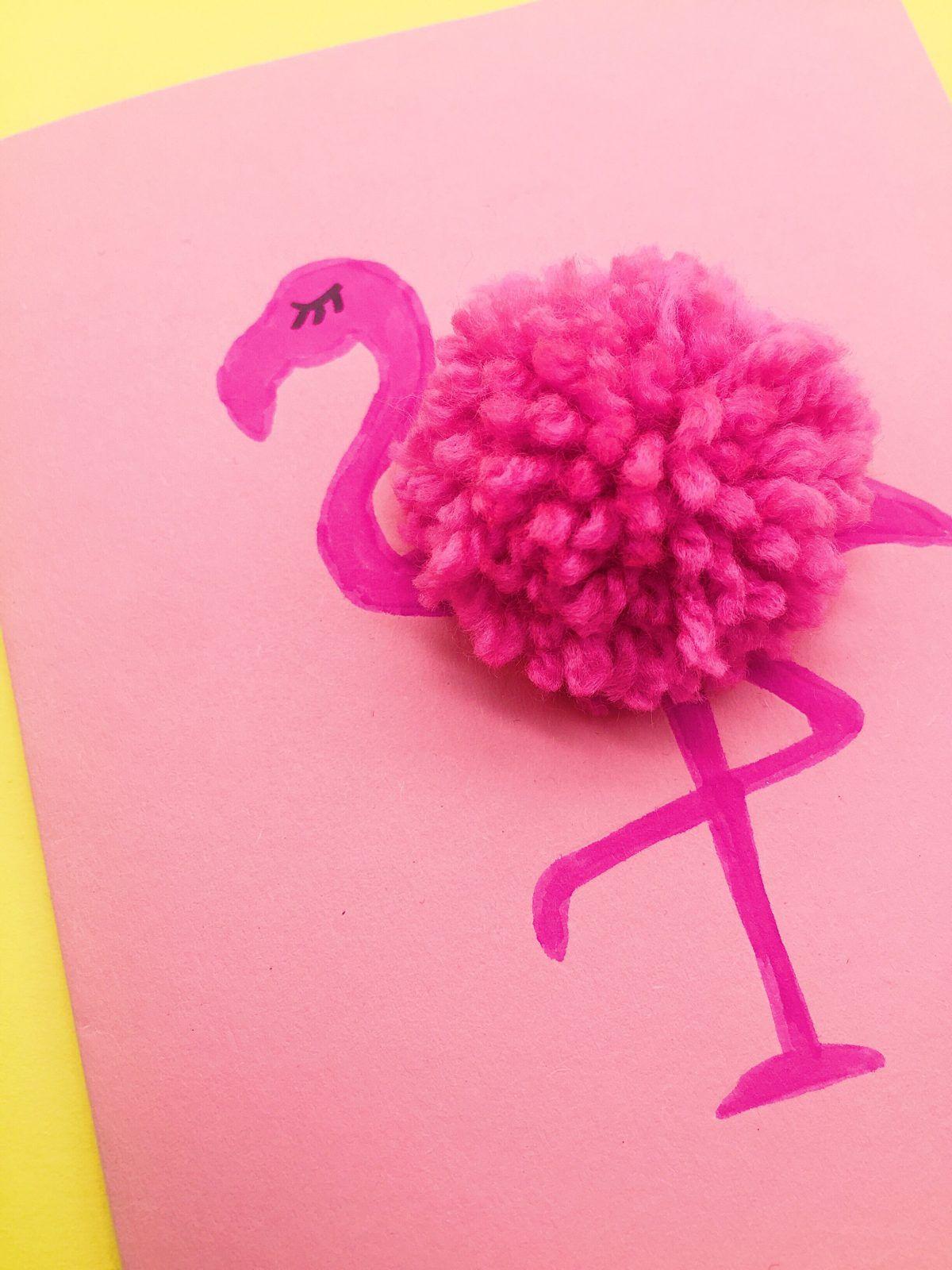 drei einfache diy deko und bastelideen mit flamingos ideas tarjetas entre otros pinterest. Black Bedroom Furniture Sets. Home Design Ideas