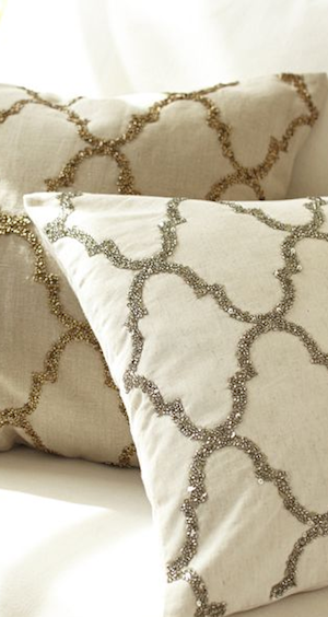 Love the tile motif created with glass beads and sequins  http://rstyle.me/n/duecrnyg6