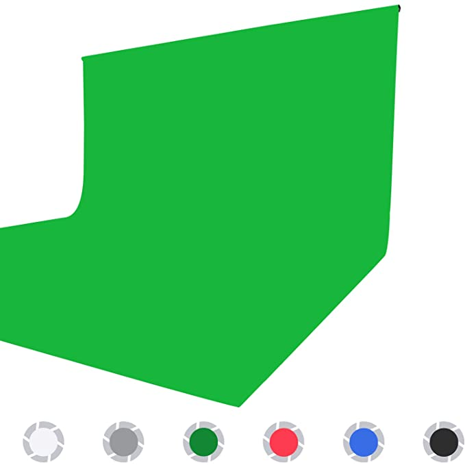 Issuntex 6X9 ft Green Background Muslin Backdrop,Photo Studio,Collapsible High Density Screen for Video Photography and Television