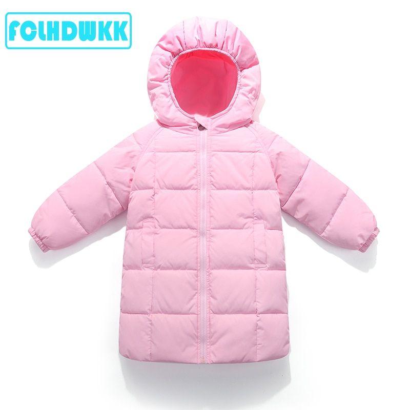 d504745a91dd 2018 Winter Jackets Kids Long Coat Winter Jackets For Girls Kids ...