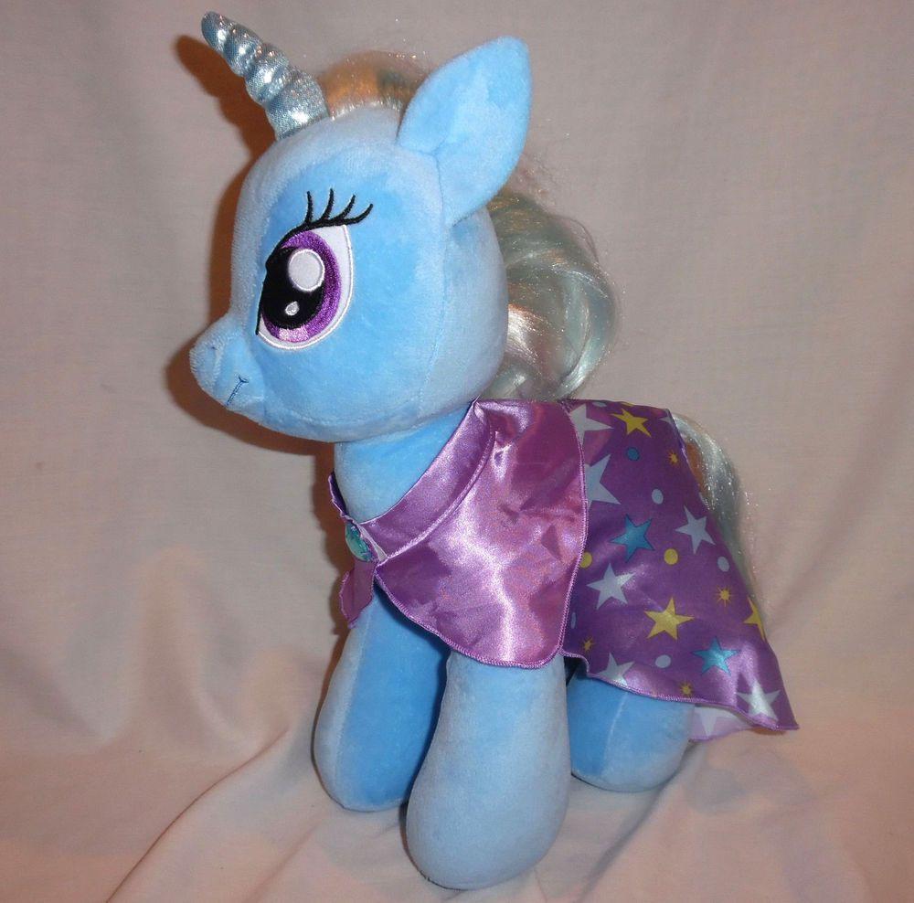 "Build A Bear My Little Pony Trixie Lulamoon Unicorn 17"" Plush w Matching Cape #BuildABearWorkshop"
