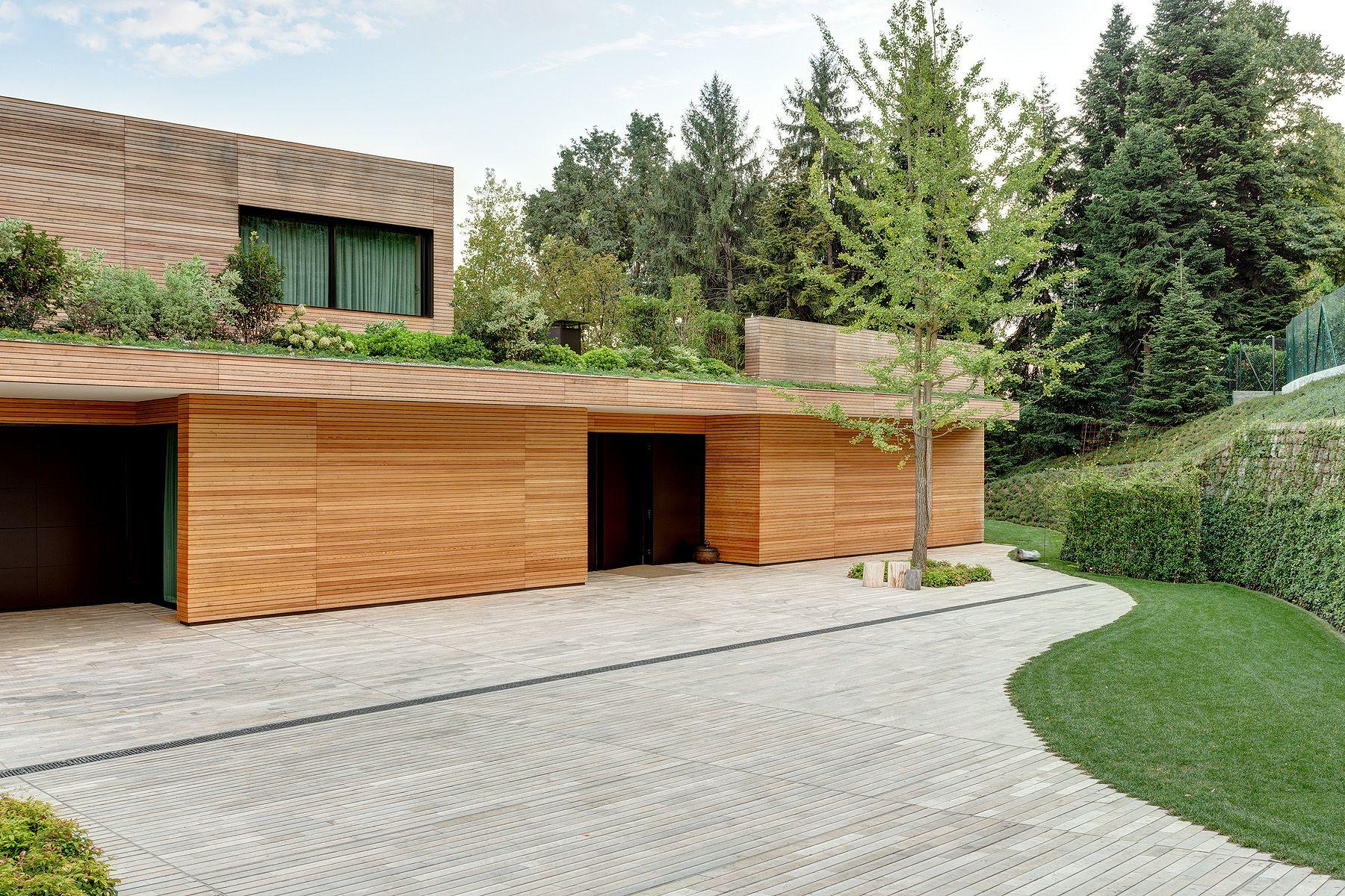 Rivestimento Esterno In Legno Per Case : Villa in legno e casa di design casa prefabbricata in legno di