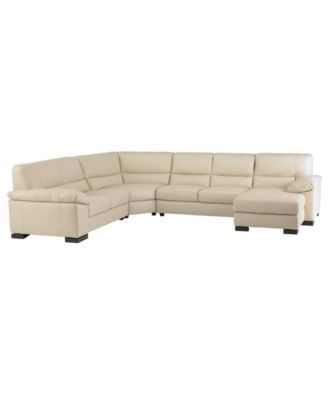spencer leather 4piece sectional sofa onearm loveseat onearm