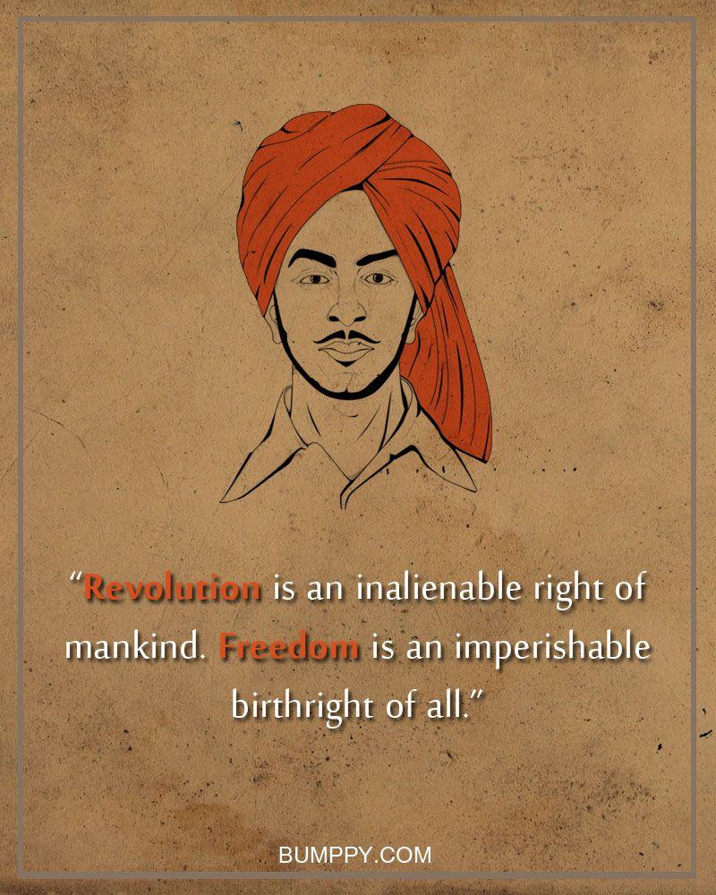 bhagatsinghnationrevolutionquotes Life quotes to