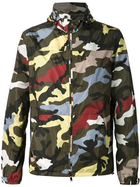281154373910 Valentino Camouflage Windbreaker - Luisa Boutique - Farfetch.com Designer  Jackets For Men, Valentino
