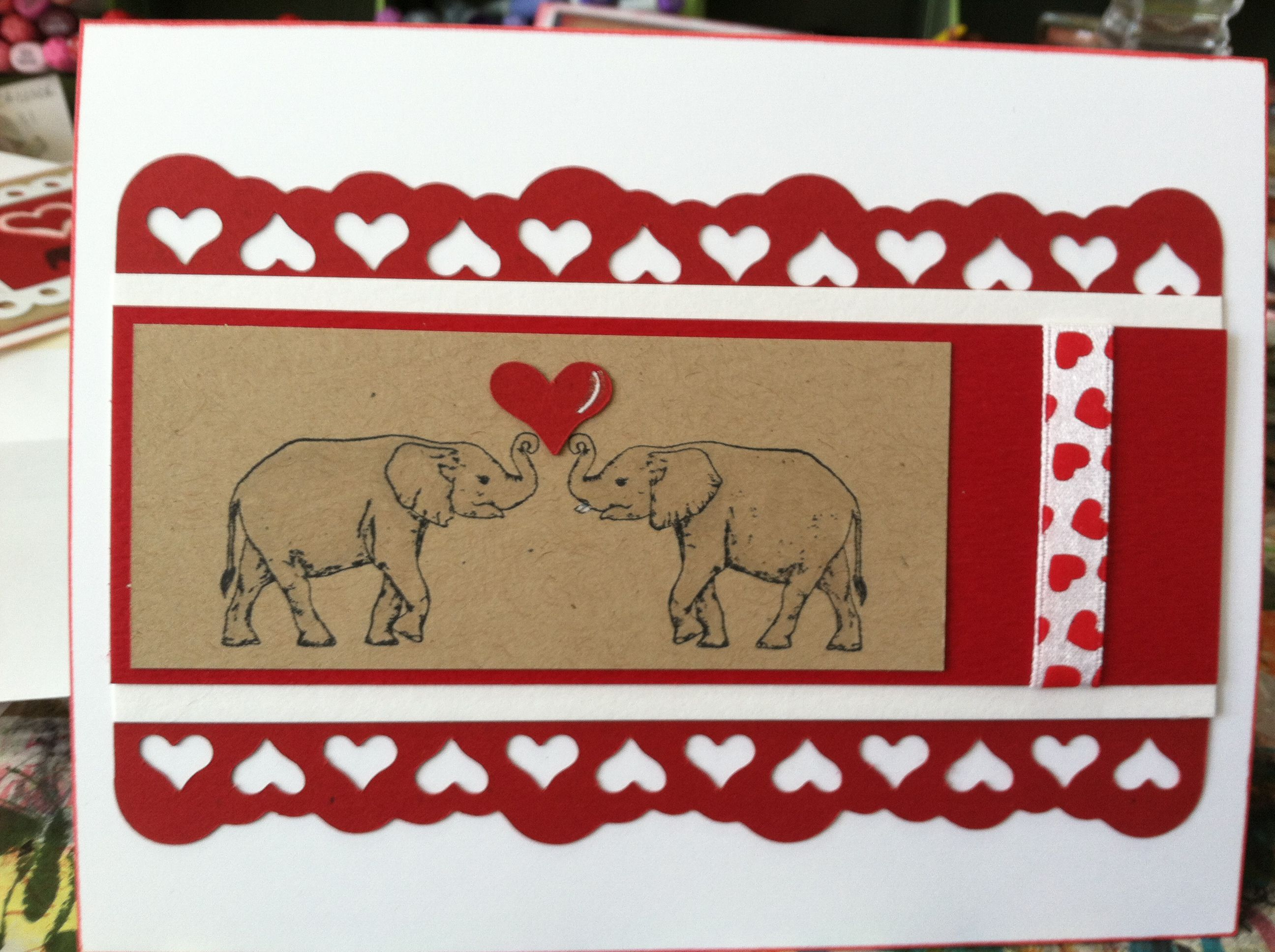I do love elephants. This one was for my husband. We share one heart. ;)