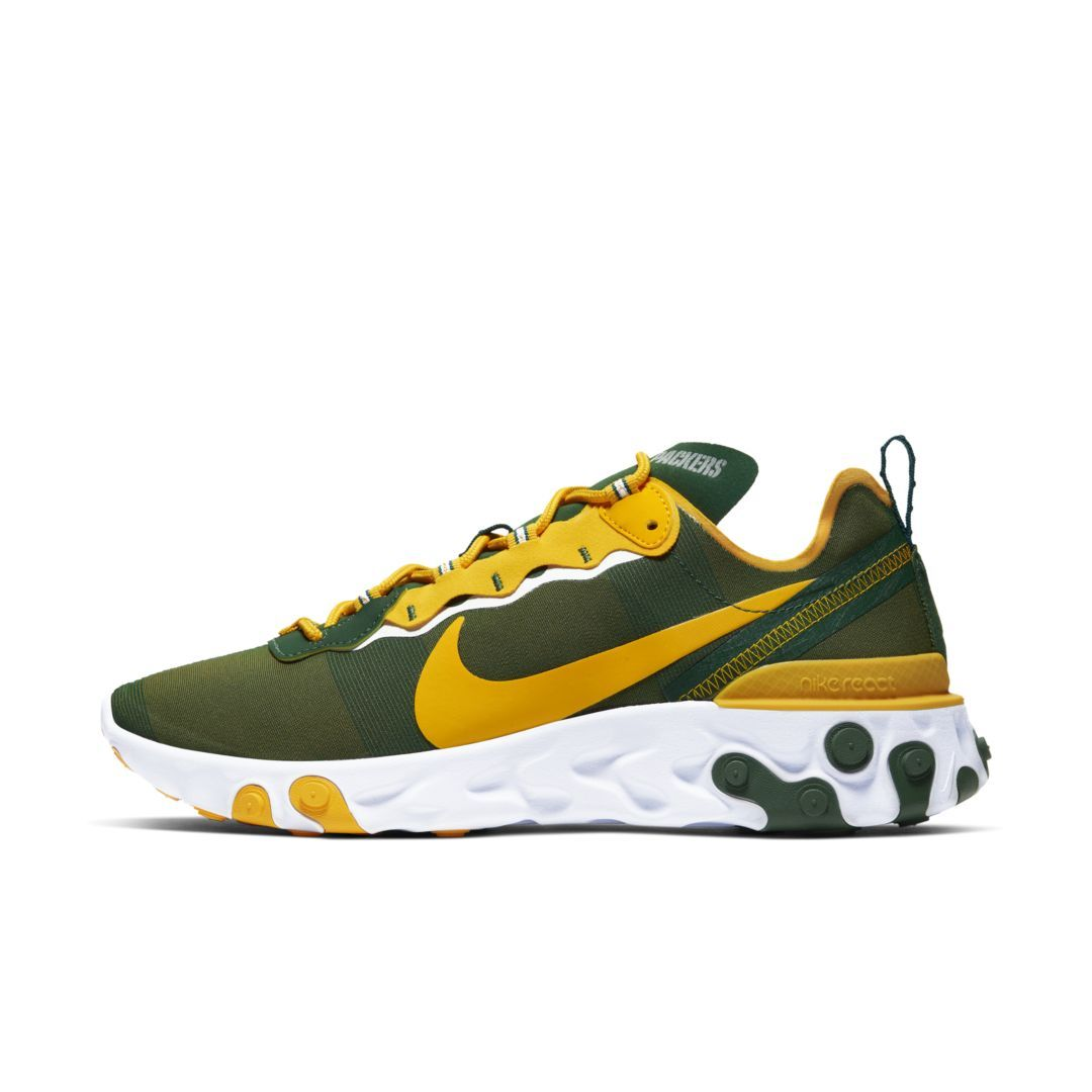 Women S Nike Gray Green Green Bay Packers Air Zoom Pegasus 36 Running Shoes Packers Womens Packers Pro Shop Green Bay Packers