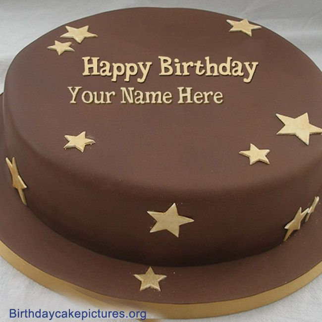 Chocolate Birthday Cake With Name Nagesh Nagi Pinterest