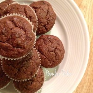 Banana Brownie Cupcakes | popularpaleo.com