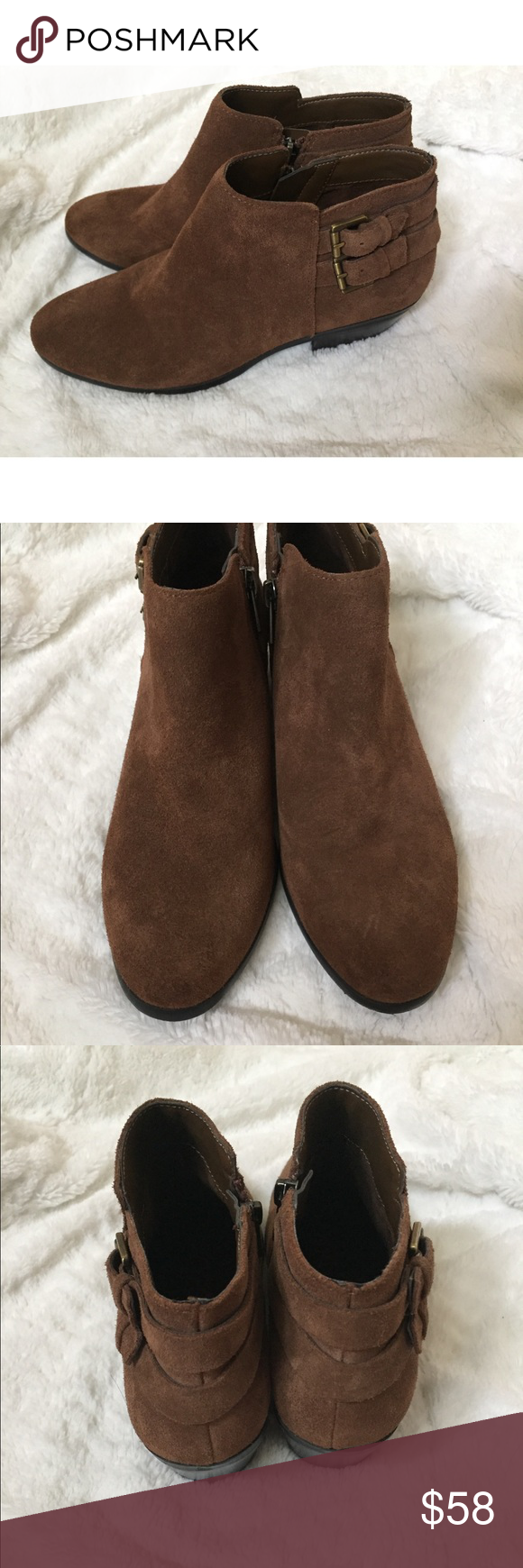 "853c203ddb02 Sam Edelman Suede Petal Bootie Adorable suede Sam Edelman boots in the  color ""Rough Out"