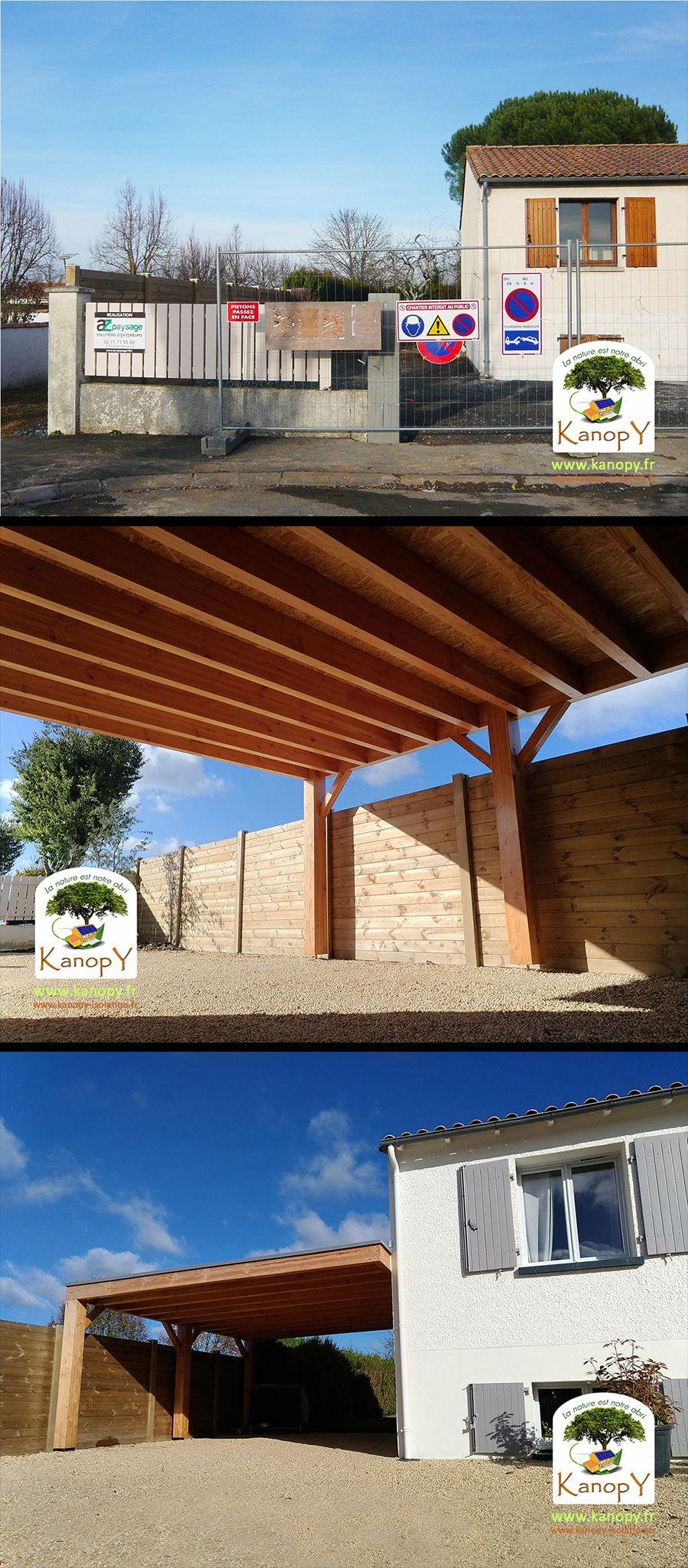 Carport bois à Niort St Liguaire (avec images