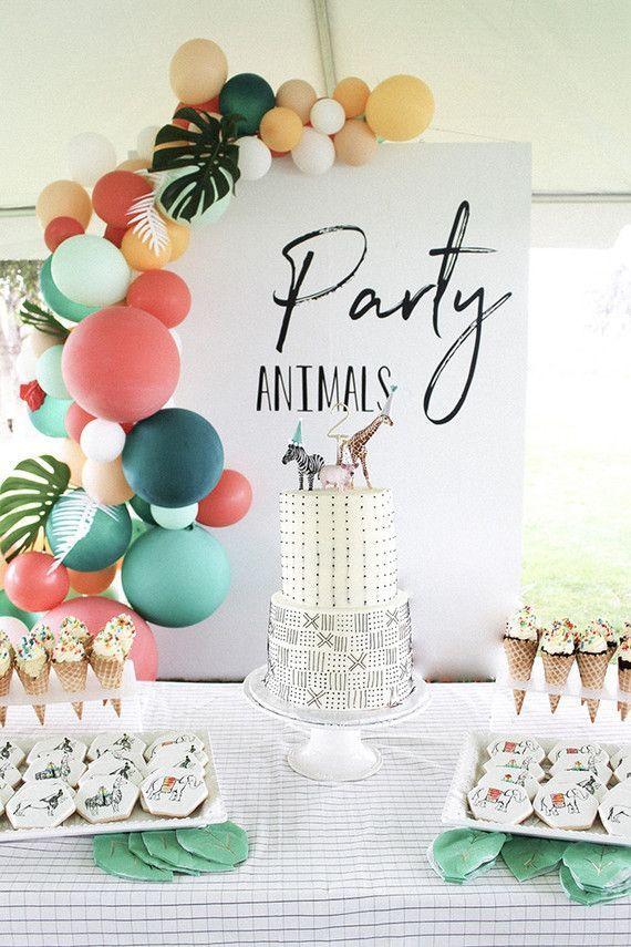 Modern party animal birthday party | Boys birthday party ideas | 100 Layer Cakelet