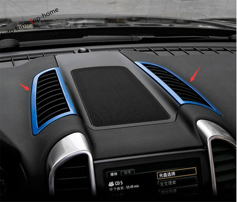 Highitem 8Pcs ABS Dash Board Vent Cover Interior Handle Trim Outlet Ring Cover Window Lift Button Trim Cover Door Small Speaker Cover for Chevrolet Camaro 2017 Up Silver Chrome
