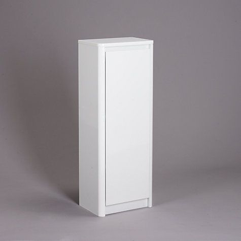 John Lewis & Partners Gloss Curve Free Standing Bathroom ...