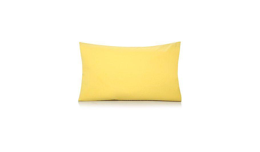Asda Lemon Yellow Pillowcase Set £2
