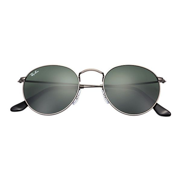 7e9b4dfec6ab9 Ray-Ban Unisex Gunmetal Sunglasses ( 150) ❤ liked on Polyvore featuring  accessories