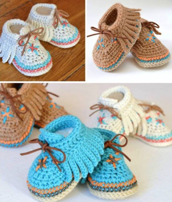 Crochet Moccasins Tutorial Free Pattern Video Instructions   Zapatos ...