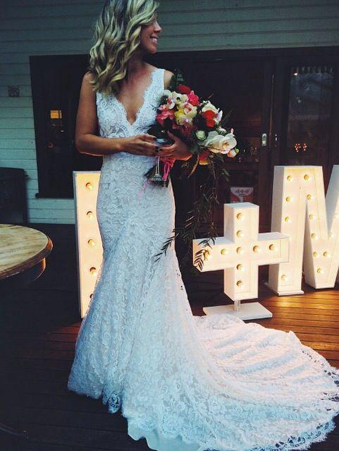 Amazing lace wedding dress by Brisbane designer Isabella Longginou ...