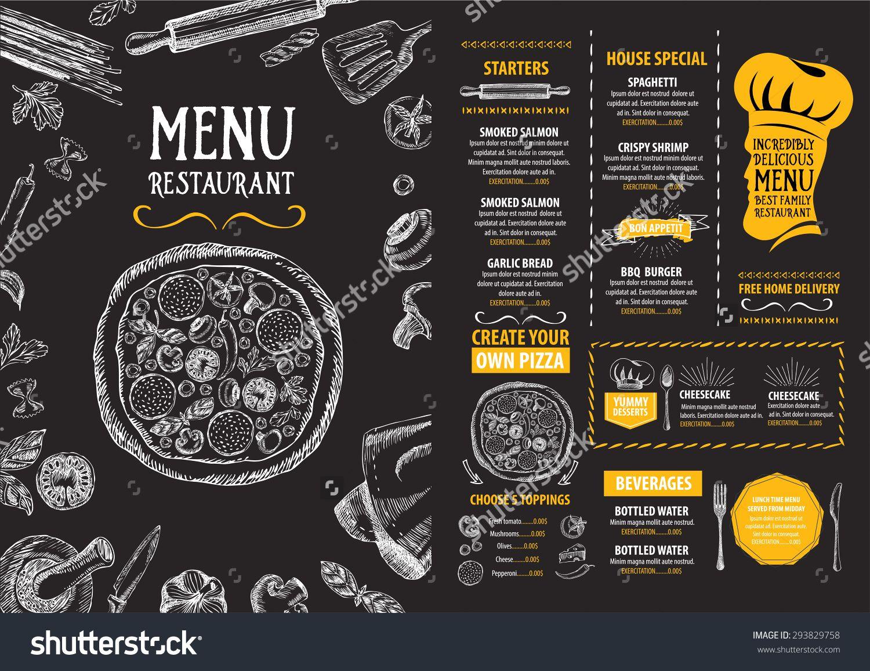 restaurant cafe menu  template design  food flyer