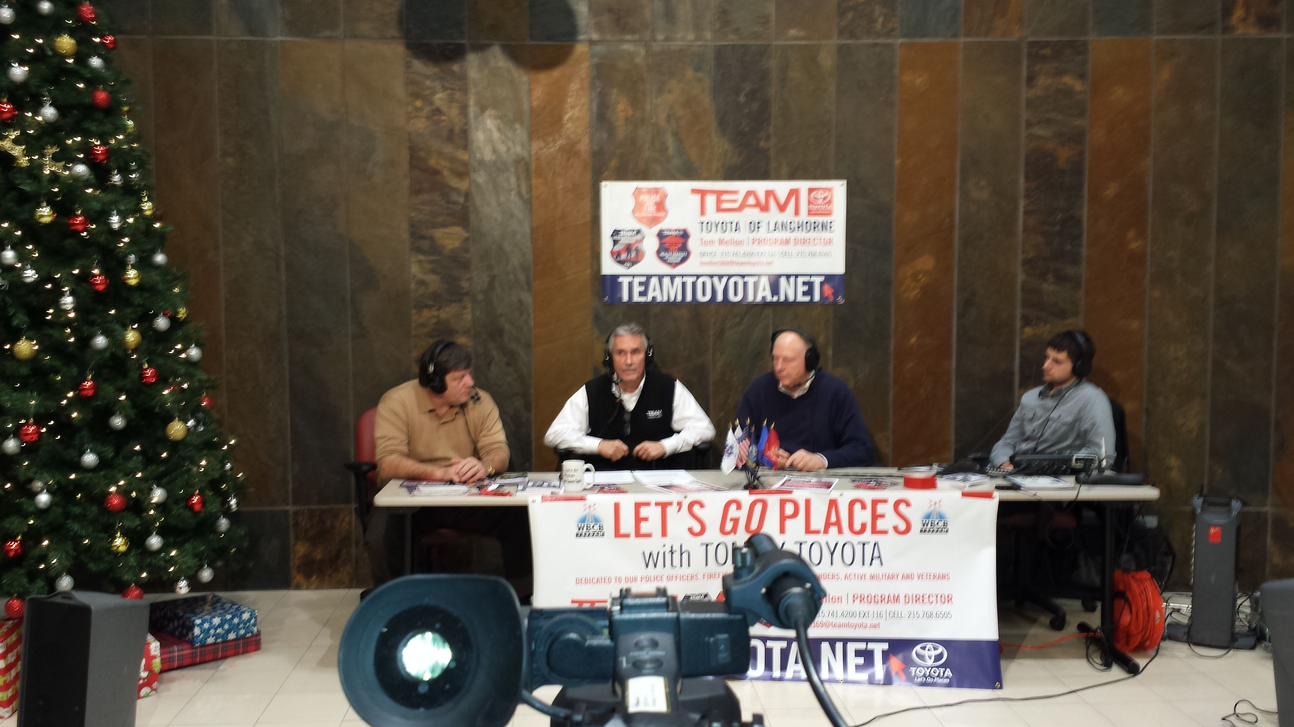 Christmas Radio Show At TEAM Toyota Langhorne, PA 19047. Tommy Toyota (Tom  Mellon) Had Many Honored Guests Including Owner Paul Muller, US Congressman  ...