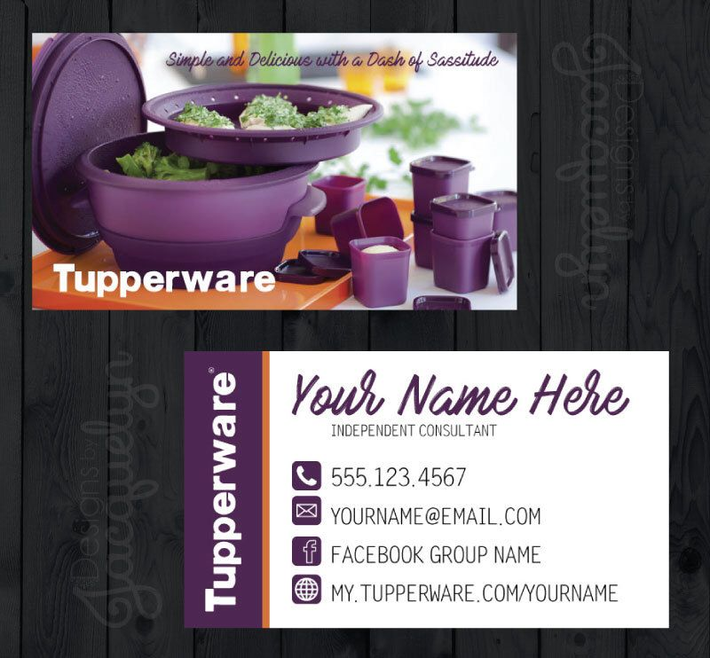 Tupperware business cards choose a style printed business cards tupperware business cards choose a style printed colourmoves