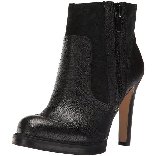 French Connection Women's Berta Ankle Bootie ($175) ❤ liked on Polyvore featuring shoes, boots, ankle booties, french connection boots, short boots, french connection booties, ankle bootie boots and ankle boots