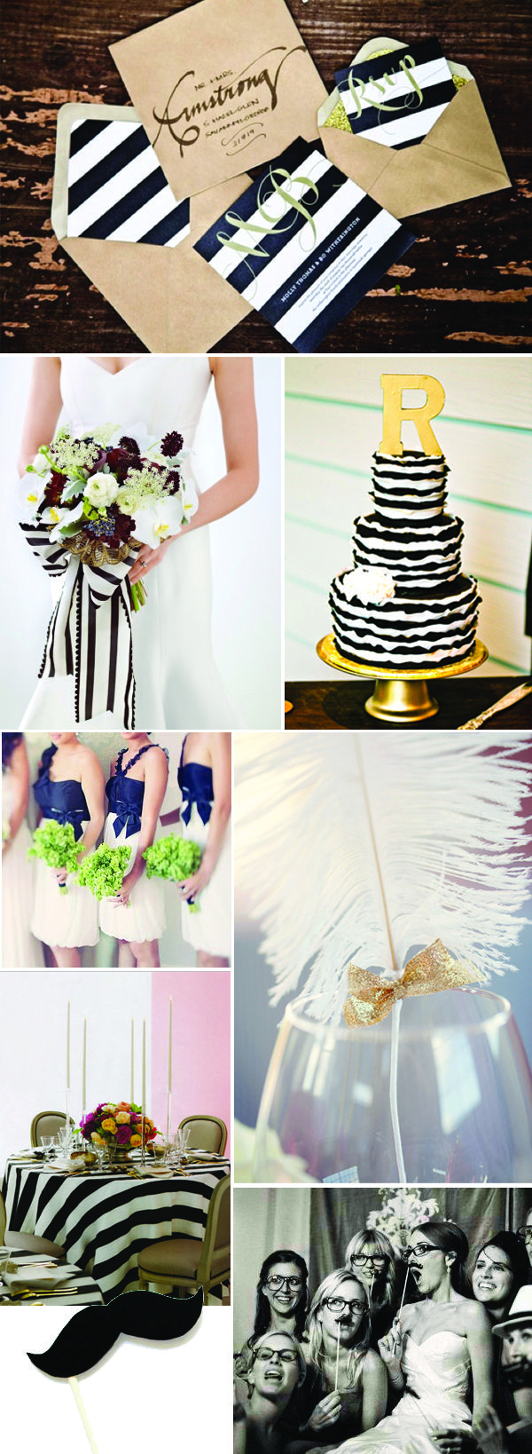 Wedding Decor Inspiration: Black White and Gold ( use navy, grey ...