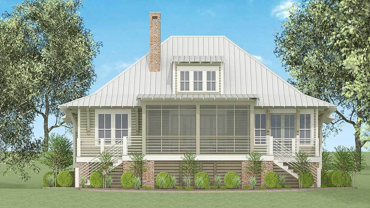 Plan 130000LLS Exclusive Southern Cottage with Big