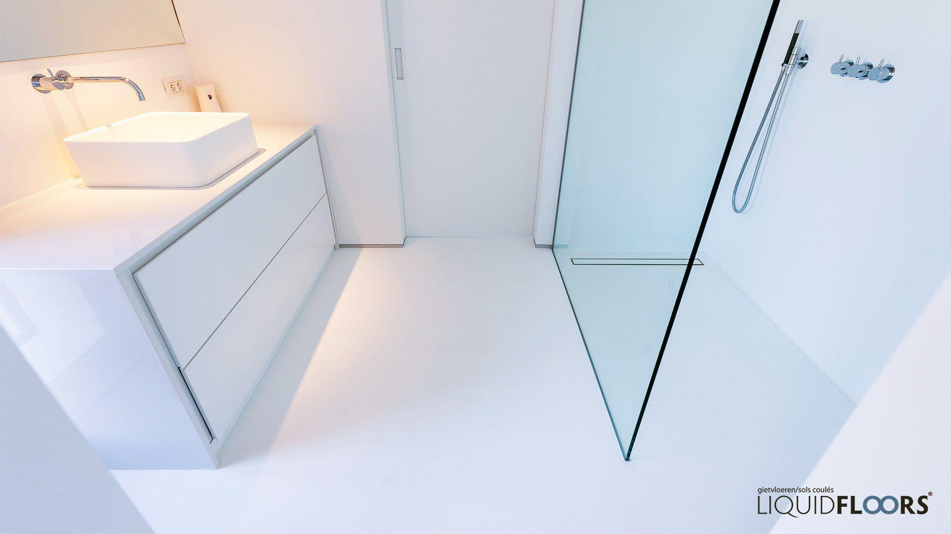 Gietvloer Badkamer Douche : Badkamer douche gietvloer liquidfloors home bathroom