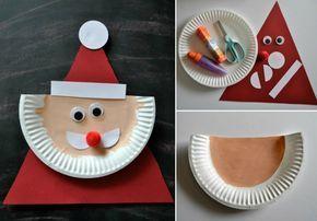 Weihnachtsbasteln Papier.Nikolaus Basteln Mit Kindern Pappteller Idee Weihnachtsbasteln