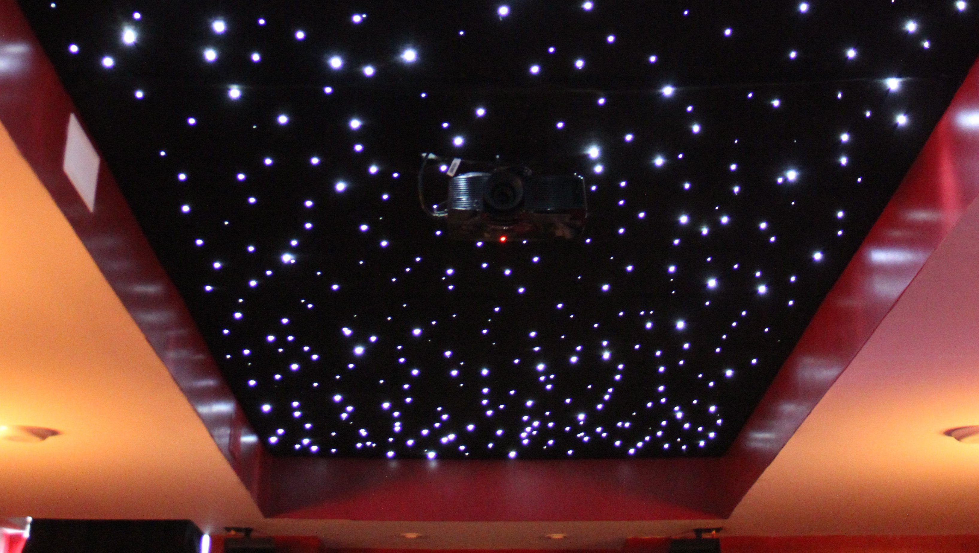 Installing A Fiber Optic Starfield Ceiling Make Star Ceiling Starry Ceiling Star Lights On Ceiling