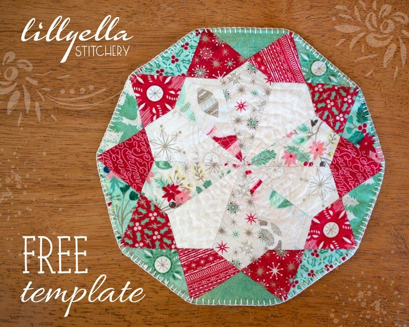 "50 CHRISTMAS FABRIC HEXAGONS FOR PATCHWORK//EPP /& 50 FREE 2 1//2/"" PAPER TEMPLATES"