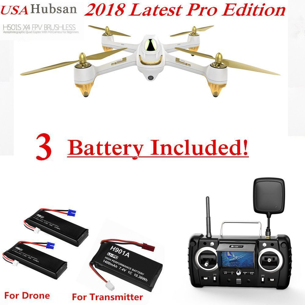 S X4 Drone GPS FPV 1080P Follow Me Brushless RC Quadcopter RTF US Hubsan H501S