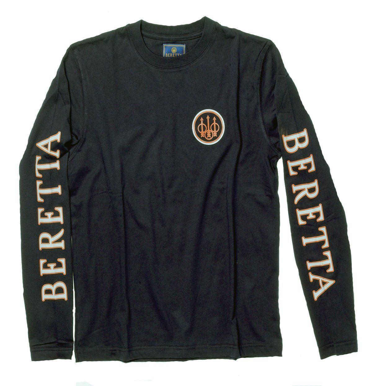 beretta men 39 s long sleeve shooting t shirt. Black Bedroom Furniture Sets. Home Design Ideas