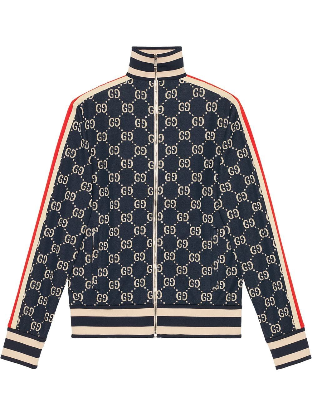 ecdd0f1f1 Gucci GG jacquard cotton jacket - Blue in 2019 | Products | Jackets ...