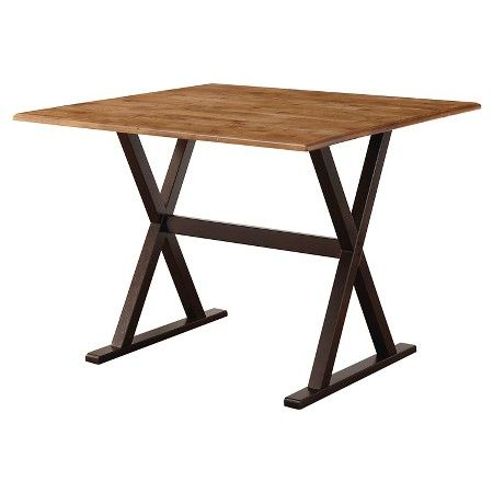 Drop Leaf Rustic Dining Table Wood/Brown   Linon Home Décor