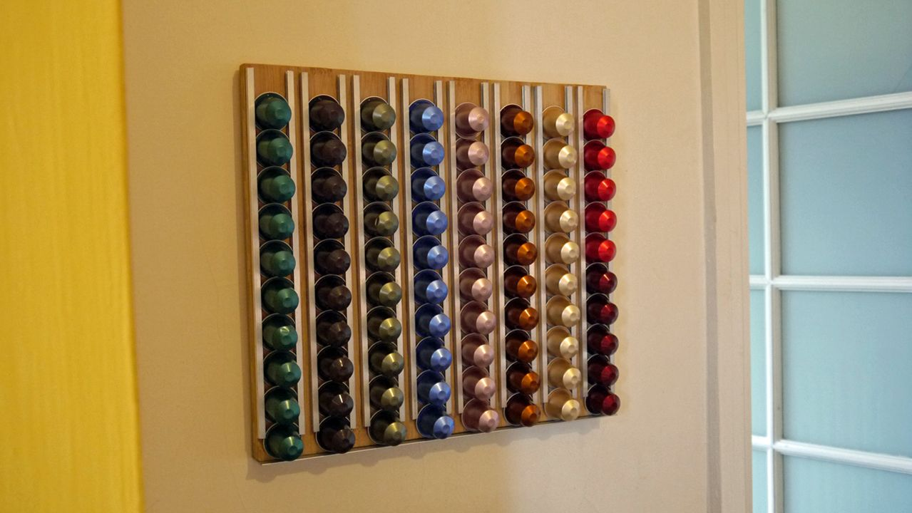 Home Made Nespresso Holder Designed And Built By Me And The Kids Http Www Adrianjohnson Com Voor Het Huis Creatief Ideeen