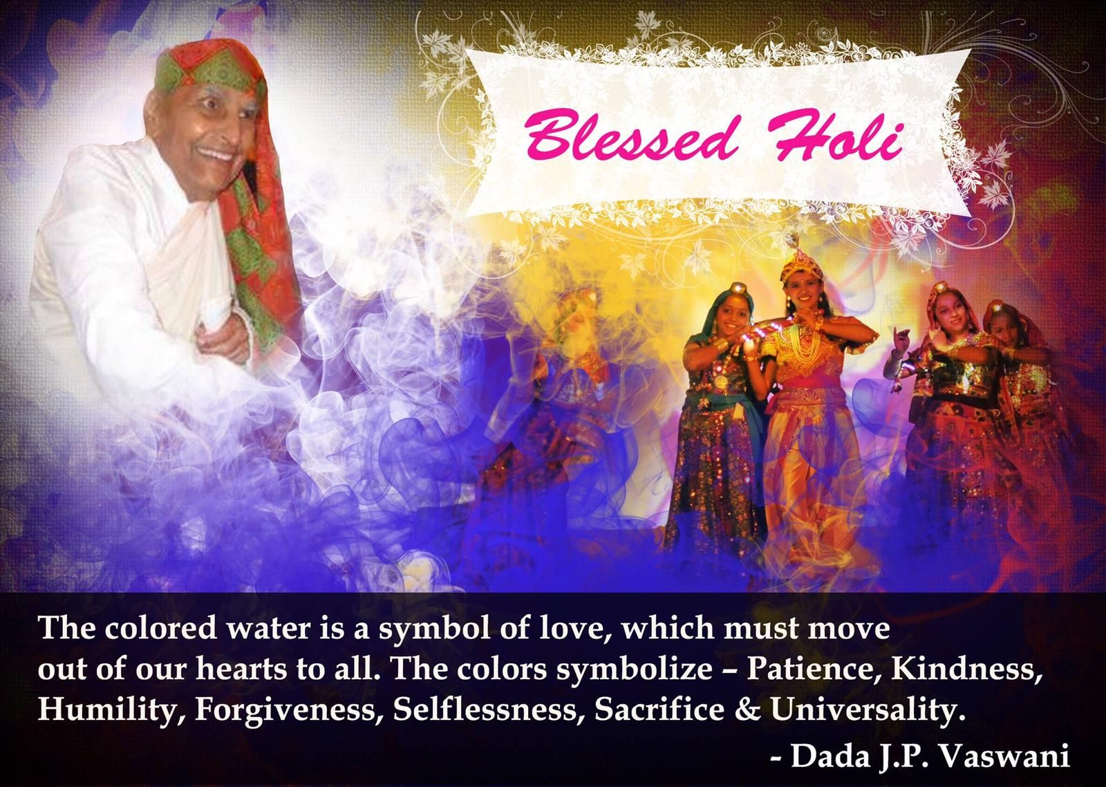 The colored water is a symbol of love, which must move out of our hearts to all. The colors symbolize -patience, kindness, humility, forgiveness, selflessness, sacrifice, and universality   #blessedholi #happyholi #holihai #pyaarkarang #patience #love #kindness #humility #forgiveness #selflessness #sacrifice #universality #colour #colors #Holi #holi2020 #happyholi2020 #holifestival #holifest #color
