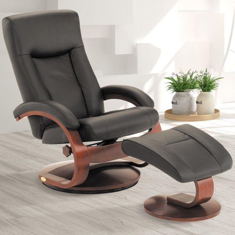 Flathead lake 54 series leather manual swivel recliner