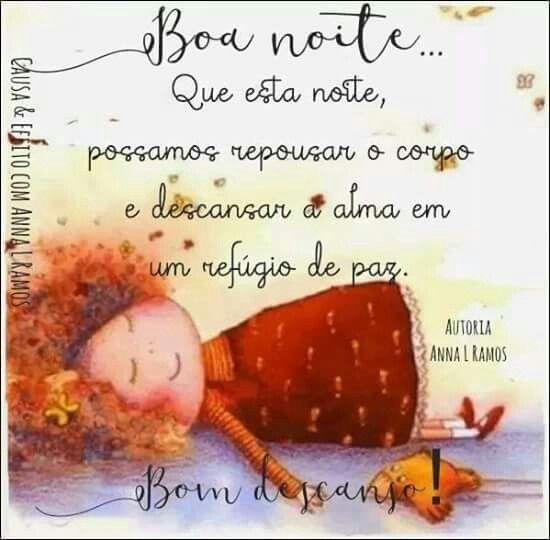 Boa Noite E Bom Descanso Gratidao Sempre Brilhe Vossa Luz
